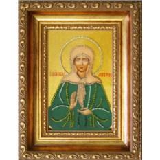 Икона с кристаллами Swarovski Святая Матрона