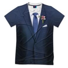 Мужская футболка 3D с полной запечаткой Жених