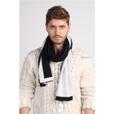 Черно-белый мужской шарф Valentino