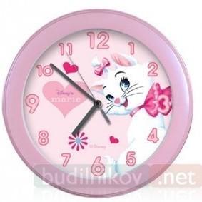 Часы детские Кошечка Мэри. Дисней для девочек.