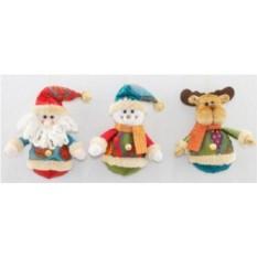 Новогодний сувенир Дед Мороз, Снеговик, Олень
