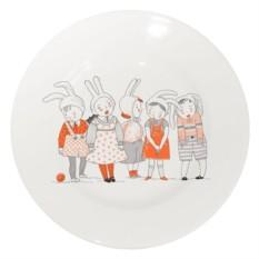 Фарфоровая тарелка Утренник