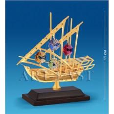 Фигурка с кристаллами Swarovski Яхта на подставке