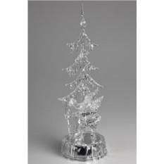 Новогоднее светящееся украшение Дед Мороз у елки