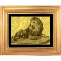 Гравюра из золота Лев