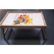 Столик для завтрака в постель Мерная таблица (грибы)