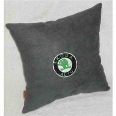 Темно-серая подушка Skoda