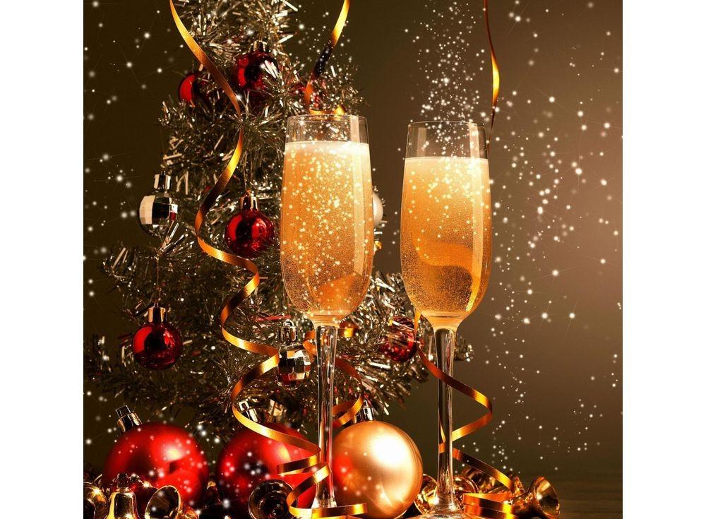 Набор для вышивки стразами «Брызги шампанского»