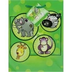 Зеленый бумажный пакет