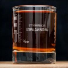 Именной стакан для виски Штрафной бокал