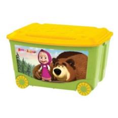 Ящик для игрушек на колесах Маша и медведь