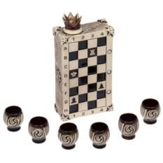 Штоф с рюмками Шахматы