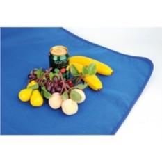 Плед для пикника с непромокаемой подкладкой в чехле (синий)