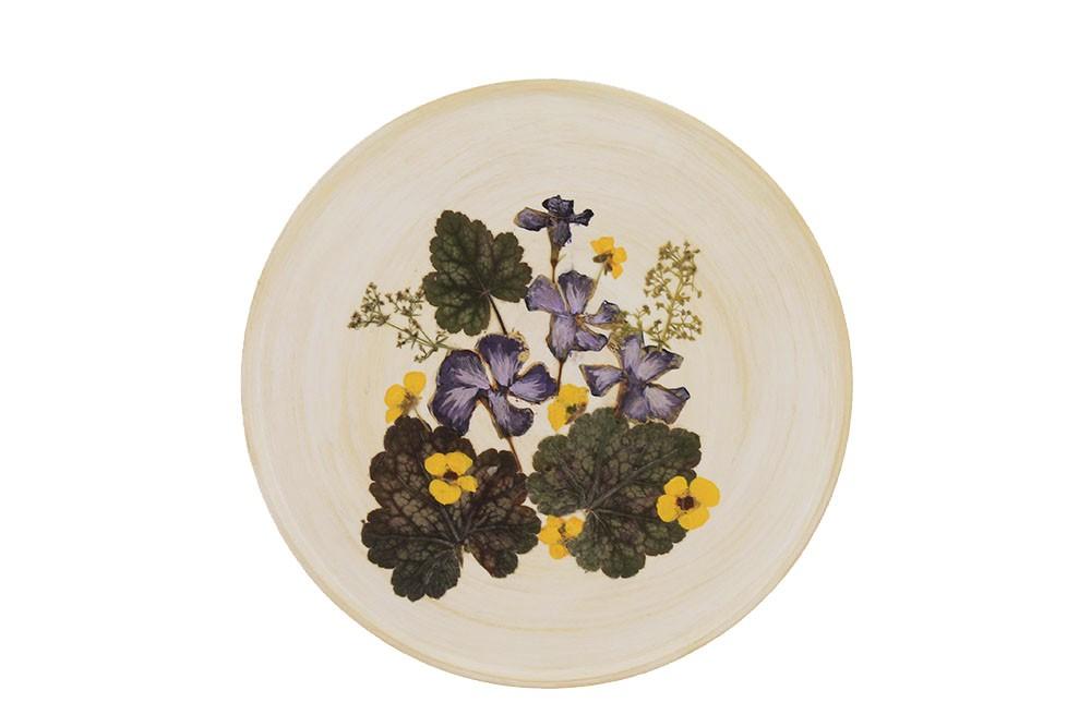 Декоративная тарелка «Фиалочка»