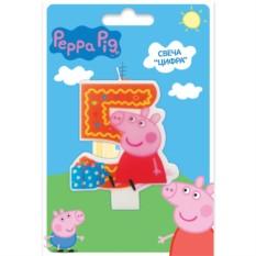 Фигурная свеча «Цифра 5», Peppa Pig