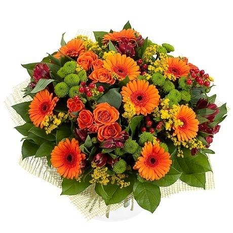 Букет цветов Оранжевое небо