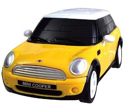 3Д пазл Мини Купер (желтый, собранный)