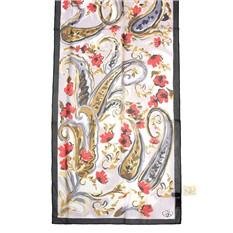 Стильный шарф с узором Пэйсли и цветочками Gaia