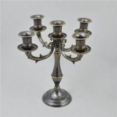 Канделябр на 5 свечей из латуни, размер 25x24x24 см