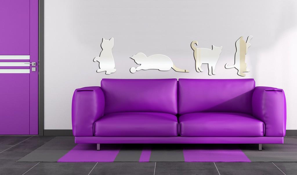 Декоративное акриловое зеркало «Котята»