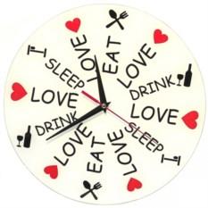 Настенные часы Еда, Любовь и Сон
