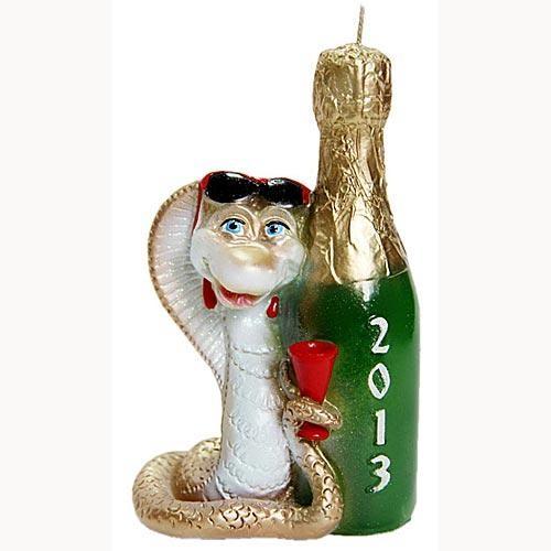 Свеча «Змея с шампанским»