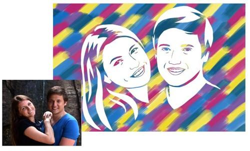 Набор для создания портрета Изобрази рисунок своей семьи