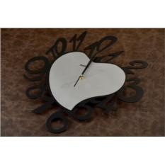 Настенные часы Сердце (черные)