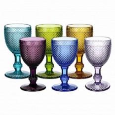 Набор бокалов для вина из цветного стекла Royal