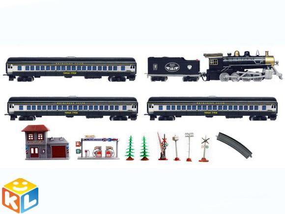 Железная дорога Голубая стрела (паровоз и 4 вагона)