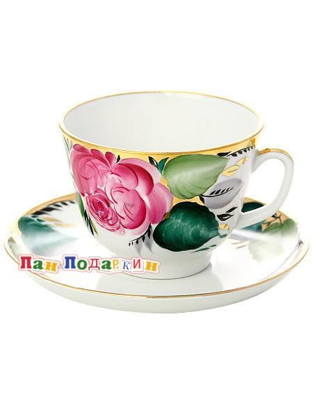 Чайная чашка с блюдцем Любовь