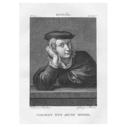 Гравюра «Рафаэль. Портрет молодого человека»