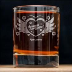 Именной стакан для виски Женская дружба