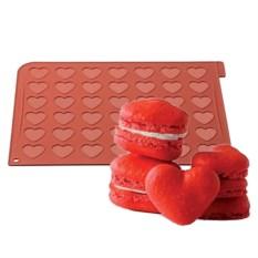 Силиконовый коврик Макарунс сердце 40x30 см