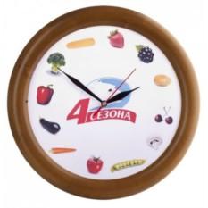 Настенные часы с деревянным ободом «Орех»