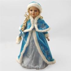 Фарфоровая новогодняя кукла Снегурочка