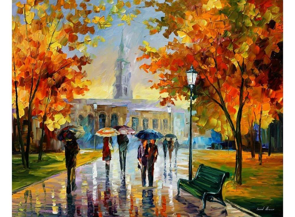Картины по номерам «Прогулка в осеннем парке»