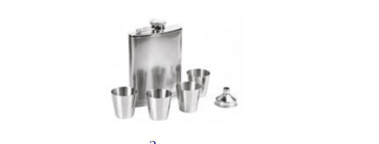 Походный набор (фляжка, 4 стаканчика, воронка)