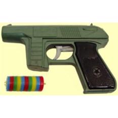 Пластмассовая игрушка Пистолет с дисковыми пулями