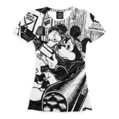 Женская футболка Print Bar Микки и Дональд