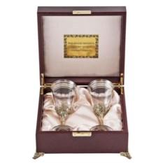 Набор из 2-х бокалов для вина Богемия (в футляре)