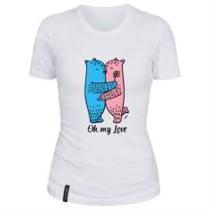 Женская футболка Oh my love