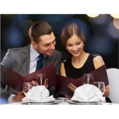 Подарочный сертификат Романтический ужин для двоих
