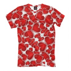 Мужская футболка Сердечки