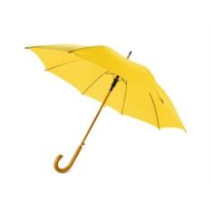 Полуавтоматический зонт-трость Радуга желтого цвета
