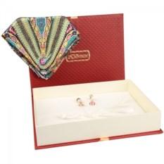 Подарочный набор (платок, серьги)