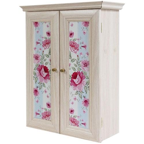 Декоративный настенный шкафчик Розы