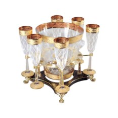 Набор для шампанского Credan из хрусталя с позолотой