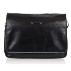Черная мужская кожаная сумка Piquadro Blue Square