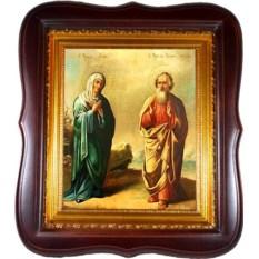 Икона на холсте Иоаким и Анна Святые родители Богородицы